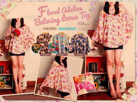 Dress Kstun Rayon Alessa 0663 floral adeline batwing top i l o v e f a s h