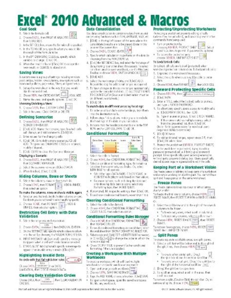 manual microsoft excel 2010 pdf microsoft excel 2010 advanced macros quick reference