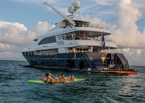 yacht never enough endless fun with water toys aboard motor yacht never
