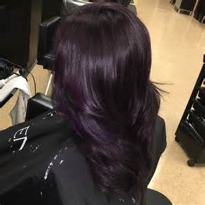 black with purple colour in their hair 25 best ideas about dark purple hair on pinterest dark