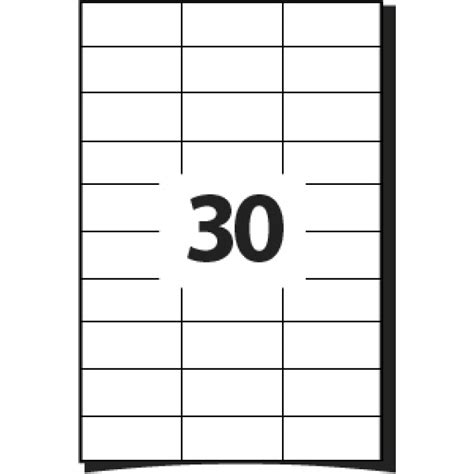 a4 printable label sheets 30 labels per a4 sheet 64 x 26 7 mm 100 sheets office