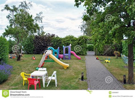 kinderspielplatz garten playground garden royalty free stock photography image