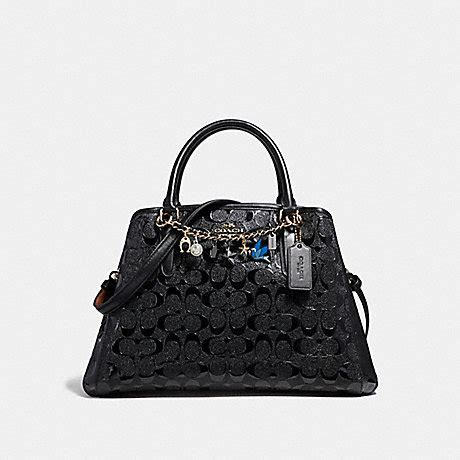 Coach Small Margot Carryall Black small margot carryall with bracelet f22259 light gold black coach handbags all www