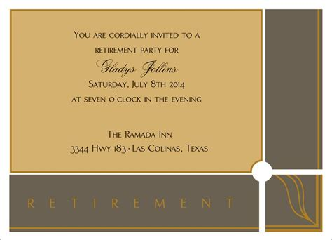 free retirement party flyer template free retirement flyer
