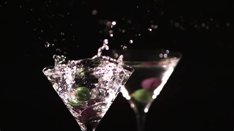 green cocktail black background cocktail background footage stock clips
