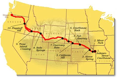 a map of the oregon trail recommended oregon national historic trail u s