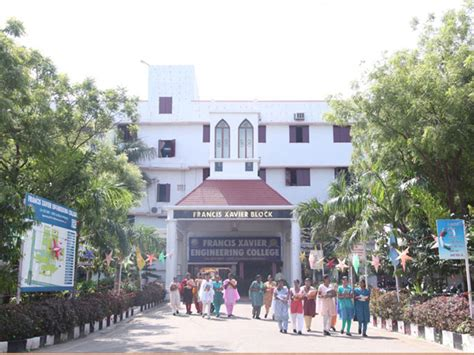 Mba Courses In Tirunelveli by Francis Xavier Engineering College Fxec Tirunelveli