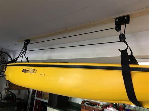 kayak ceiling hoist boat storage rack hi lift
