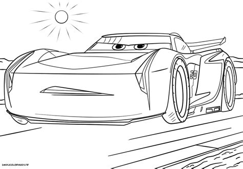 Cars 3 Sketches by Coloriage Cars 3 Jackson