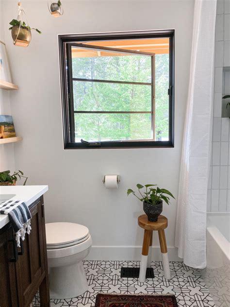 girl grey white bathroom tiles fireclay tile