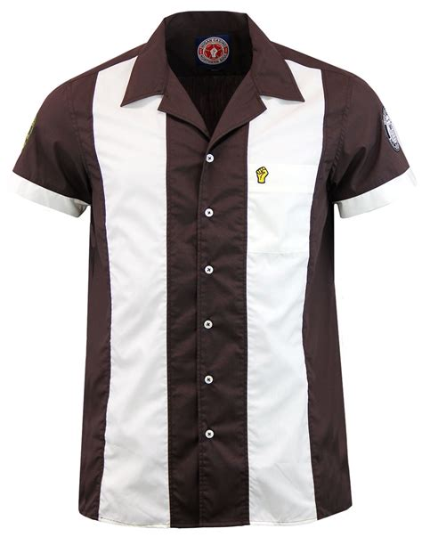Block Note Misc Brand Medium Plain Sedang Polos Eahes wigan casino retro mod northern soul panel bowling shirt