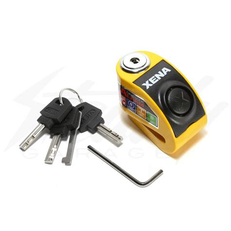 Alarm Lock xena xx 6 disc lock with alarm yellow
