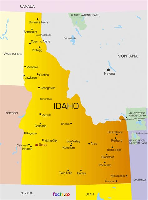 idaho map with cities idaho state map with cities images