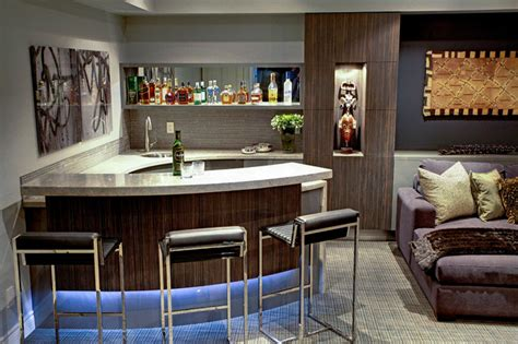 houzz media room trafalgar contemporary media room and bar contemporary