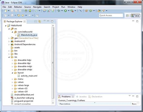 tutorial android project eclipse สร างโปรเจค android create new project บนโปรแกรม eclipse
