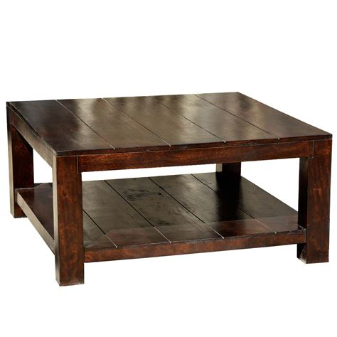 Square Wooden Coffee Table Mission Mango Wood Square Coffee Table