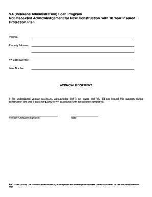 va not inspected acknowledgement Non Policy Acknowledgement Form Fill   Kotaksurat.co