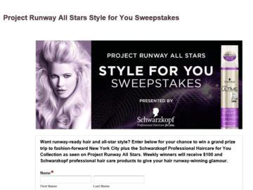 Project Runway Sweepstakes - project runway all stars style for you sweepstakes