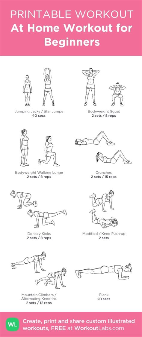 free home workout plans at home full body workout for beginners women from
