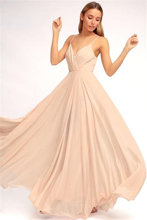 blush colored maxi dress lovely blush pink dress maxi dress gown bridesmaid