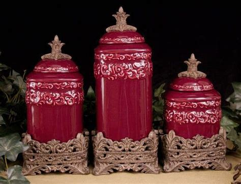 Tuscan Kitchen Canister Sets Tuscan Old World Drake Design Medium Berry Kitchen