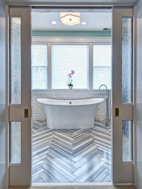 bathroom pocket doors photo page hgtv