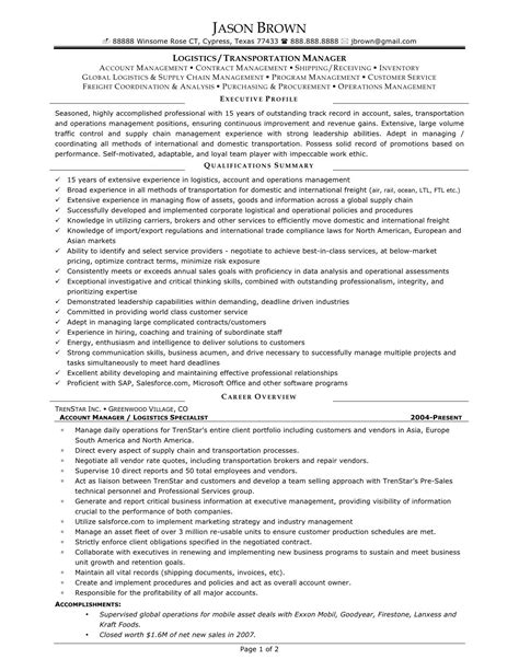 supply chain coordinator resume sle transport operations manager cover letter business unit