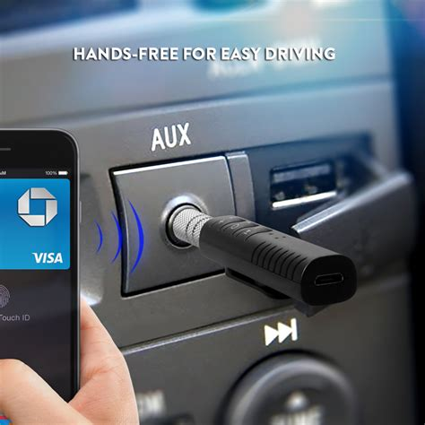 Clip On 3 5mm Bluetooth Receiver Car Audio Receiver Adapter cwxuan clip on 3 5mm bluetooth audio adapter receiver with mic for car headphone speaker