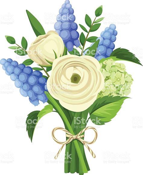 fiori di giacinto bouquet di fiori di ranuncolo bianco e con fiori di