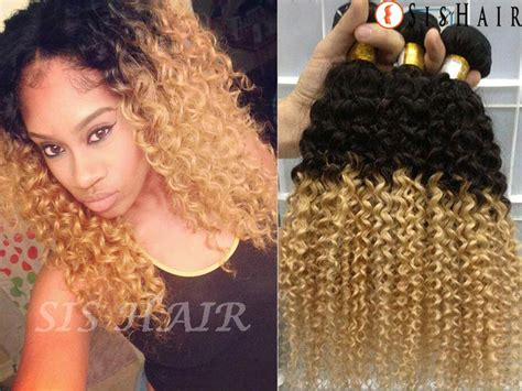 1 bundle 8a ombre brazilian remy hair deep curly t1b 27