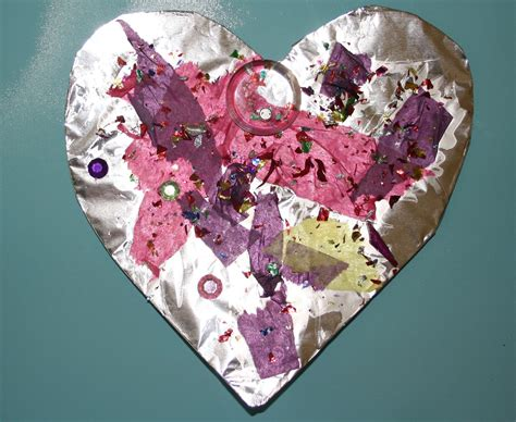 preschool crafts for s day foil hearts