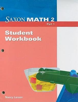 libro student workbook for mathematics saxon math 2 part 1 student workbook nancy larson