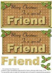 remembering  special friend christmas card front  verse cup craftsuprint