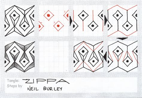 how to draw a tangle doodle part 2 zippa tangle pattern perfectly4med artist at