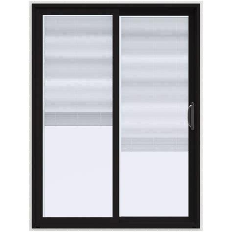 jeld wen patio doors reviews jeld wen 60 in x 80 in v 4500 black prehung right