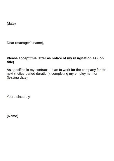 Copy Of A Resignation Letter by Letter Of Resignation Keeping Your Career On Track