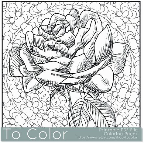 coloring books for intricate flower coloring pages coloring home