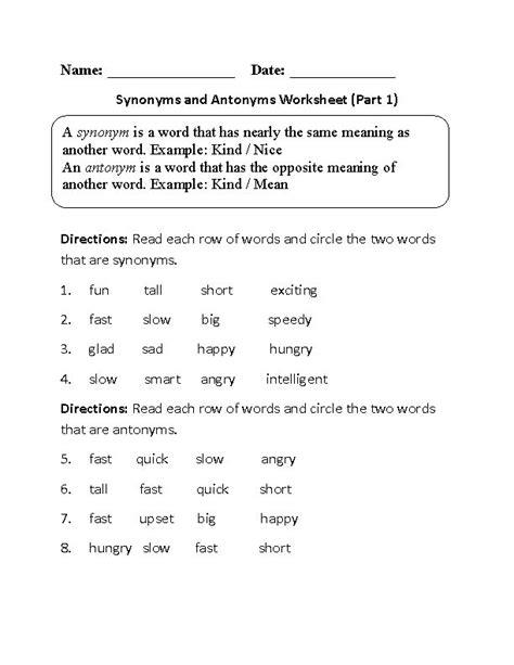 the 25 best synonym worksheet ideas on change
