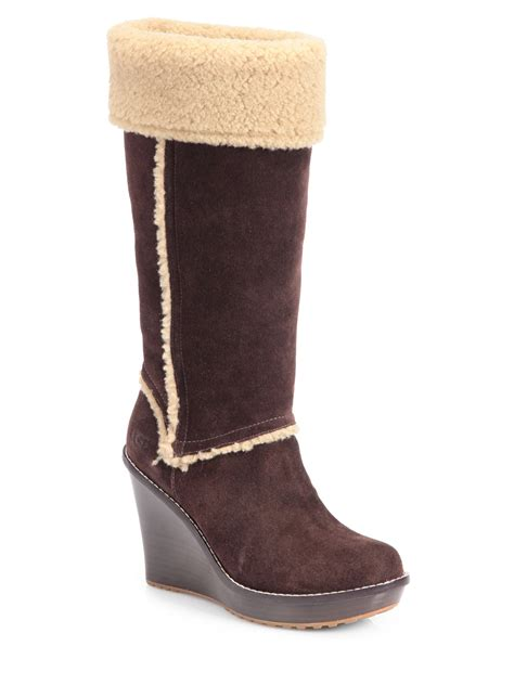 ugg aubrie wedge boots