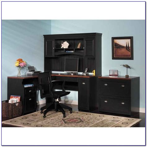small black desk with hutch small black corner desk with hutch desk home design