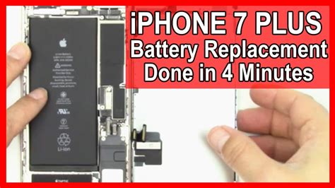 how to replace the battery in your iphone 7 plus in 4 minutes