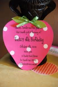 strawberry shortcake birthday invitation by palmbeachpolkadots