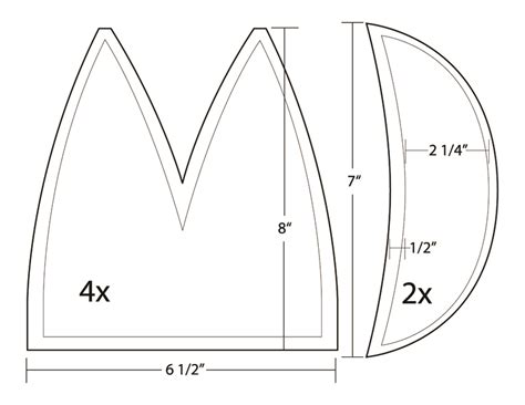 pattern for 6 panel welding cap to all you sewing lot lfgss