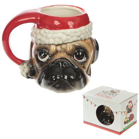 pug shaped ceramic novelty pug shaped handle mug 14863 puckator dropship uk