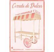 Carretas Vintages / Retro Para Dulces Candy Bar Cupcakes