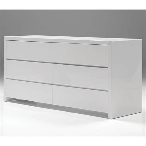 glossy white dresser mobital blanche double dresser in high gloss white dre