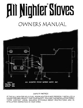 nighter moe air tight wood stove owners manual