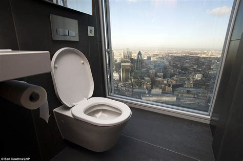 bathroom in england loo the shard s loo with a view 750ft above london toilet on