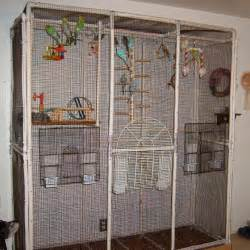 pvc parakeet bird cage condo made out of pvc pipe and fittings