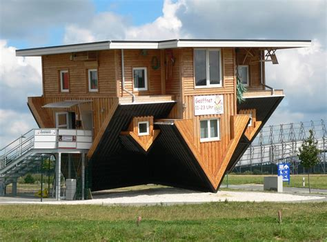 designing buildings the amazing house in germany that is upside down